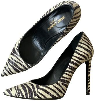 Saint Laurent Anja Black Leather Heels