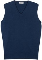 John Smedley Hadfield Blue Merino Wool Top