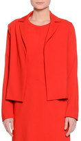 Piazza Sempione Notch-Collar Open-Front Jacket, Red