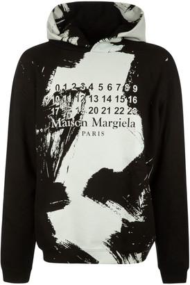 Maison Margiela Paint Splash Logo Print Hoodie
