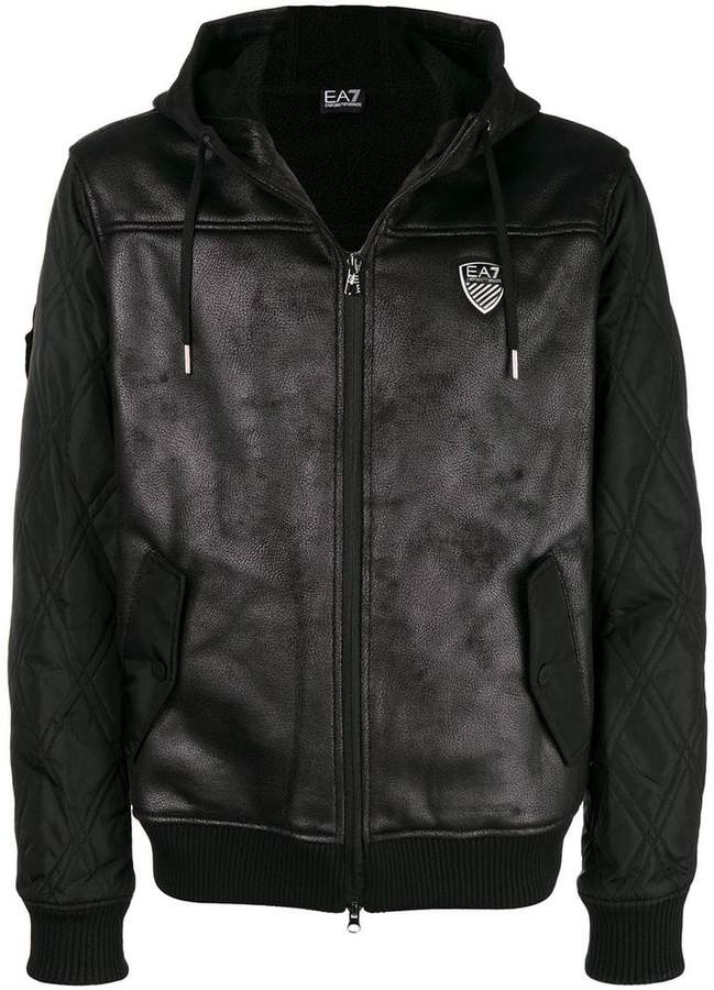 Emporio Armani Ea7 hooded biker jacket