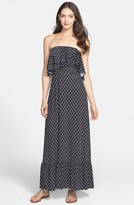 T-Bags Tbags Los Angeles Ruffle Trim Jersey Maxi Dress