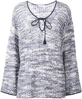 See by Chloe knit string tie top - women - Cotton - M
