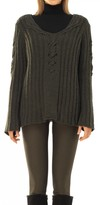 Max Studio Heavy Gg Wool And Cashmere Hand-Knit Pullover