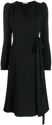 P.A.R.O.S.H. Wrap Style Midi Dress