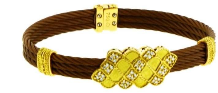 Charriol Philippe Diamond 18K Yellow Gold & Bronze Steel Bracelet