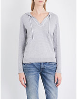 The White Company Striped cotton and cashmere-blend hoody
