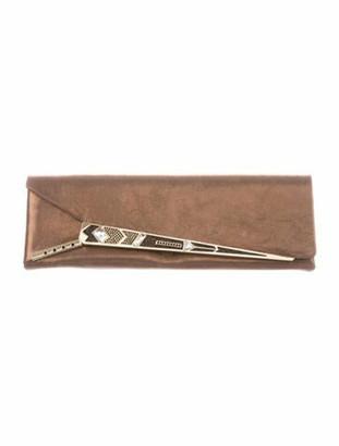 Judith Leiber Metallic Long Clutch Gold