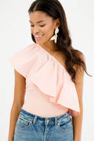 Do & Be Do+Be Bardot One Shoulder Ruffle Top