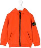 Stone Island Junior - logo patch hooded jacket - kids - Cotton - 2 yrs