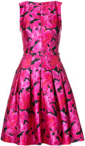 Oscar de la Renta floral-print dress - women - Silk/Cotton - 12