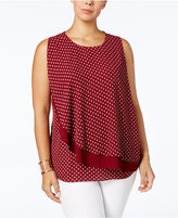 Charter Club Plus Size Layered Top, Created for Macy's