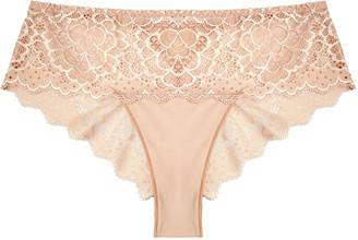 Simone Perele Caresse blush lace briefs