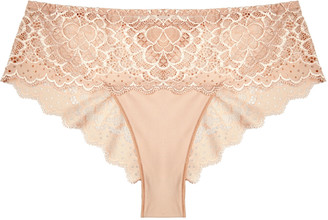 Simone Perele Caresse Blush Lace Briefs