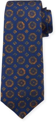 Kiton Octagons Silk Tie