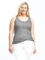 Old Navy Fitted Plus-Size Henley Tank