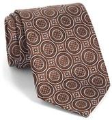Ermenegildo Zegna Men's Medallion Woven Silk Tie