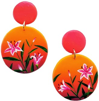 Emily Laura Designs Sunset Lily Clip On Drop Earrings