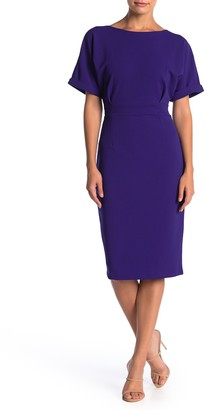 Alexia Admor Dolman Sleeve Midi Sheath Dress