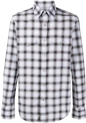 Tom Ford Check Pattern Western Shirt