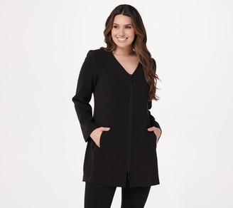 Linea by Louis Dell'Olio V-Neck Zip-Front Jacket