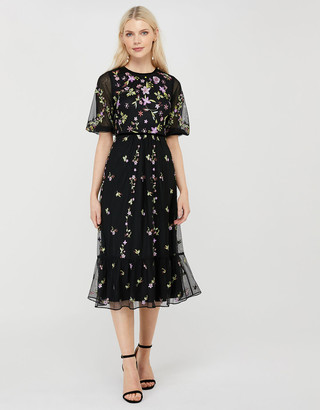 Under Armour Emma Sustainable Floral Embroidery Dress Black
