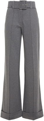 Victoria Victoria Beckham Belted Ponte Wide-leg Pants