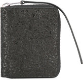 Rick Owens zip around wallet - women - Cotton/Calf Leather - One Size