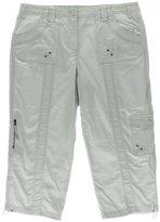 Style&Co. Style & Co. Womens Twill Cargo Capri Pants Gray