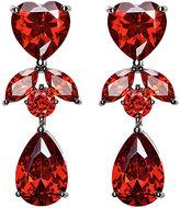 Fallon Women's Monarch Heart Double-Drop Earrings-RED