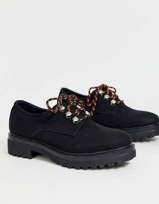 Park Lane hiker chunky flat shoes-Black