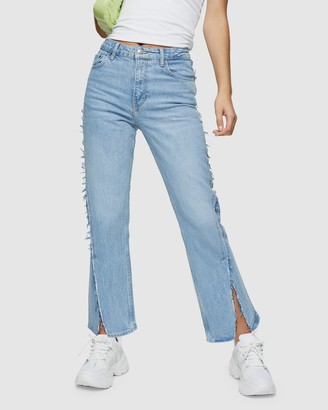 Topshop Exposed Seam Straight Jeans