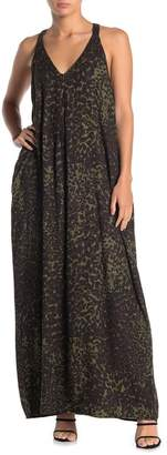 Love Stitch Leopard Print Racerback Maxi Dress