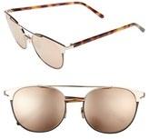 Linda Farrow 54mm Gold Plated Aviator Sunglasses