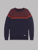 Autograph Pure Cotton Jacquard Jumper (3-14 Years)
