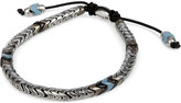 M. Cohen African glass and sterling silver navajo bracelet
