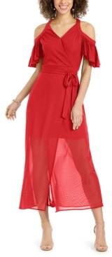 Thalia Sodi Cold-Shoulder Mesh Dress, Created for Macy's