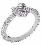 Michael Kors MKJ4209 Pavé Silver-Tone Knot Ring size 8
