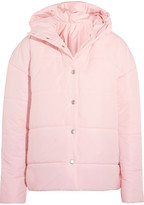 Awake Bubblegum Princess Oversized Quilted Shell Jacket - Pastel pink