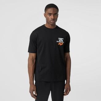 Burberry onogra otif Cotton Oversized T-shirt