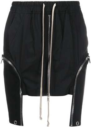 Rick Owens Drawstring Asymmetric Skirt