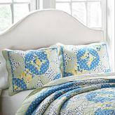 Laura Ashley Belle Standard Pillow Sham in Blue/Yellow