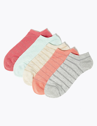 Marks and Spencer 5 Pack Sumptuously Soft Trainer Liner Socks