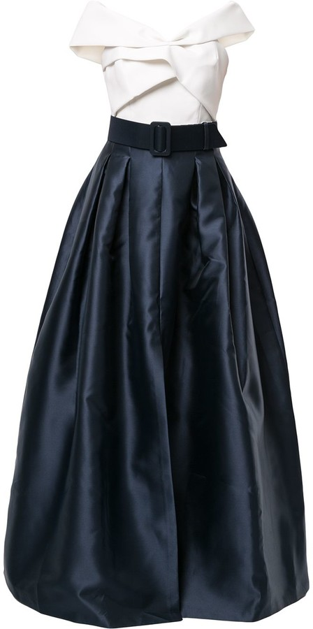 Sachin + Babi Livi belted gown