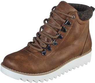 Skechers Mountain Kiss Lace Up Walking Ankle Boots - Brown