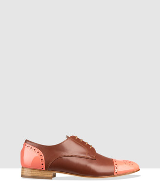 Habbot. Women's Brown Brogues & Loafers - Nara Derby Lace-Ups - Size One Size, 40 at The Iconic