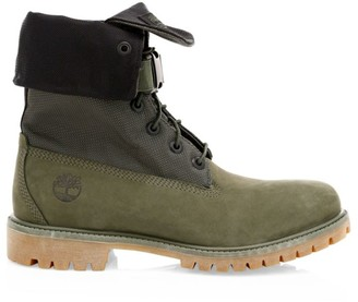 Timberland Premium Gaiter Leather & Canvas Combat Boots