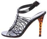 Versace Elasticized Cage Sandals