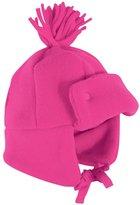 Jo-Jo JoJo Maman Bebe Polarfleece Pom-Pom Hat (Toddler/Kid) - Raspberry-1-2 Years