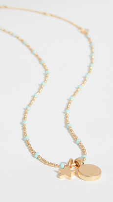 Madewell Star Pendant Enamel Chain Necklace
